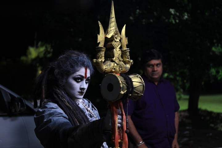 Radhika Kumaraswamy's Aghori look for Bhairadevi- Cinema express
