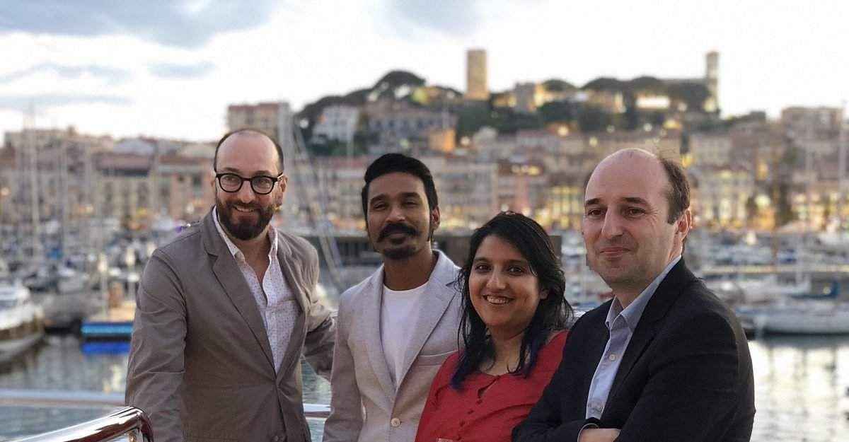 Dhanush is in Cannes