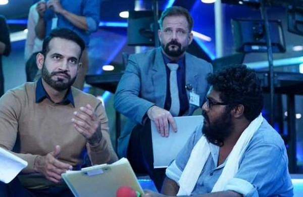 Irfan Pathan on the sets of Chiyaan Vikram 58