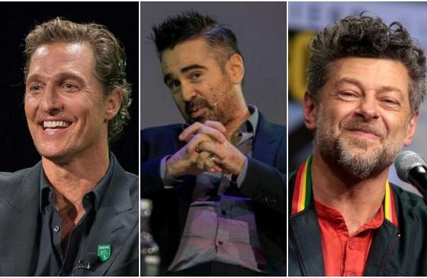 Matthew McConaughey, Colin Farell, and Andy Serkis