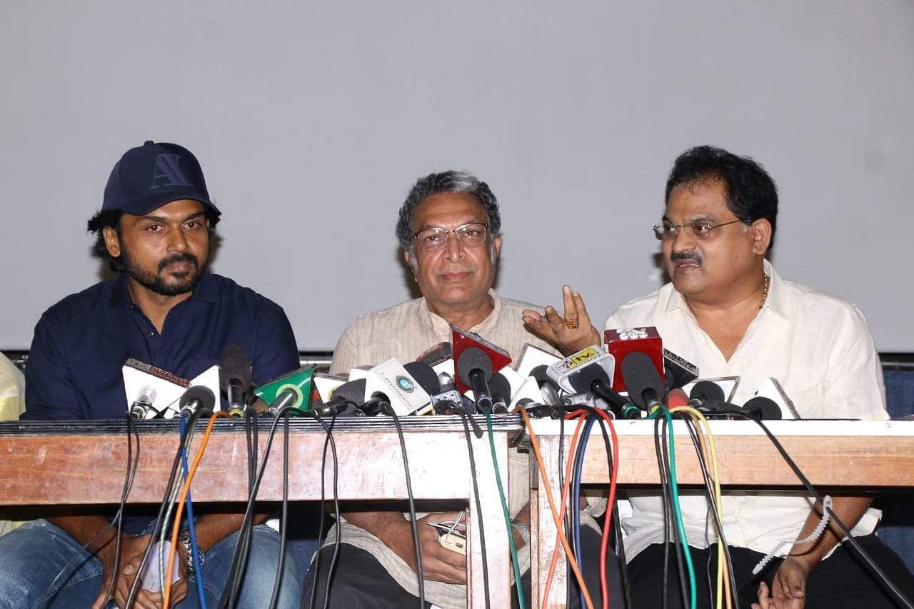Karthik, Nasser, and Poochi Murugan