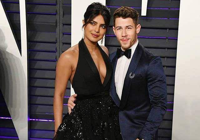 Priyanka Chopra and Nick Jonas at theOscar after-party