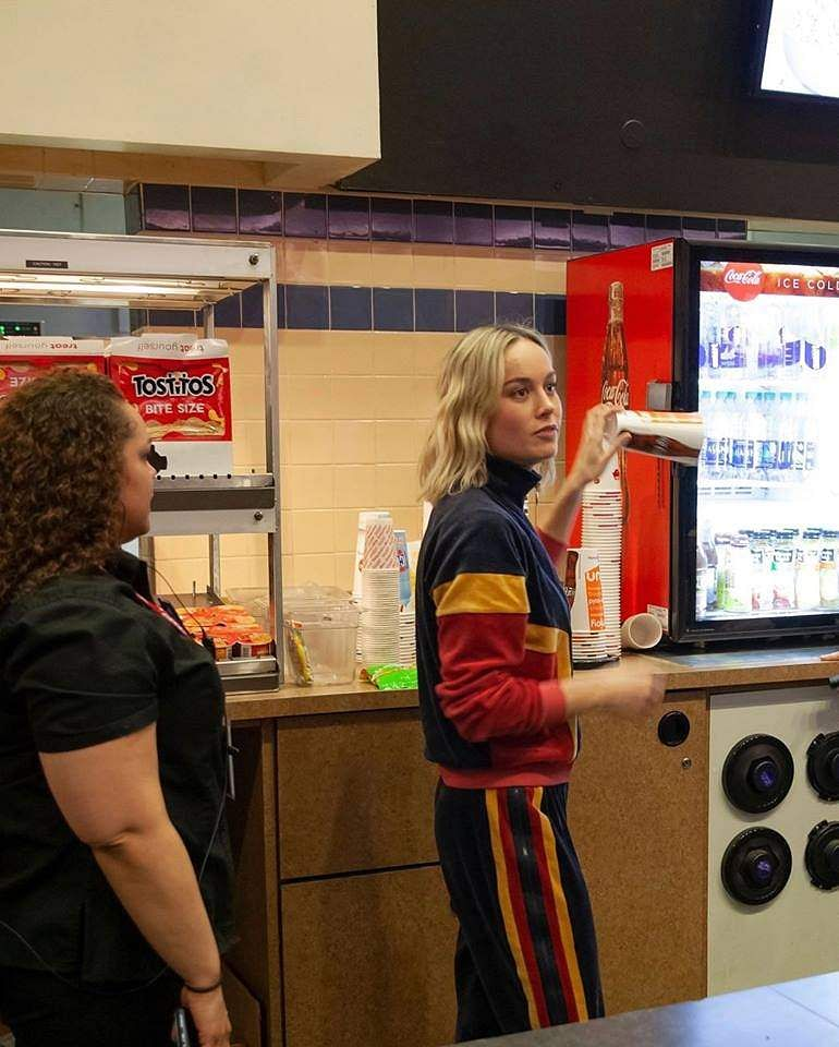 Brie Larson's Captain Marvel theatre visit
