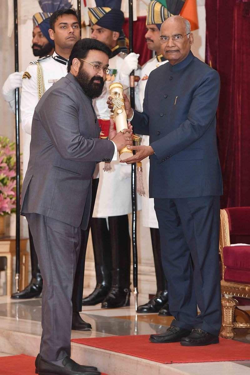 Mohanlal receives his Padma Bhushan