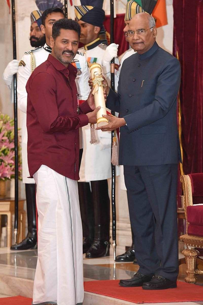 Prabhudheva receives his Padma Shri