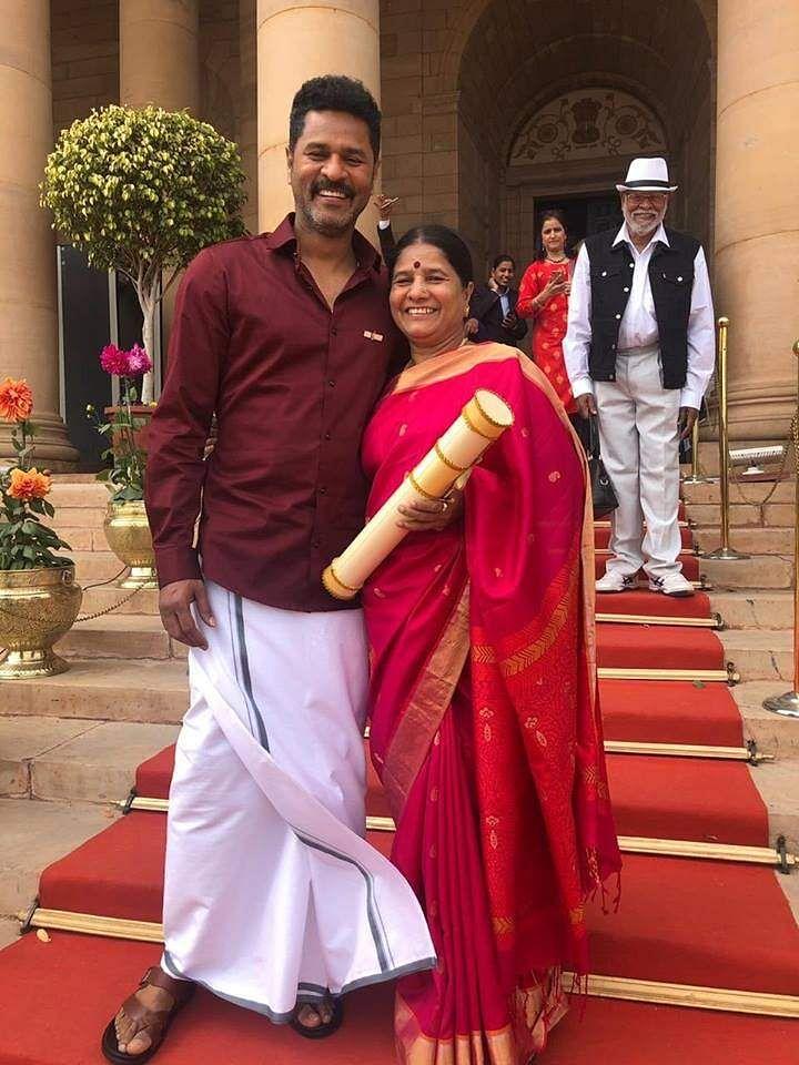 Padma Shri Prabhudheva with his family