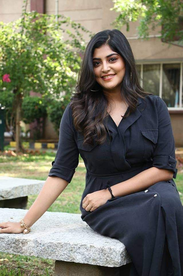 Manjima Mohan clicked at the press meet of Gautham Karthik-starrer Devarattam
