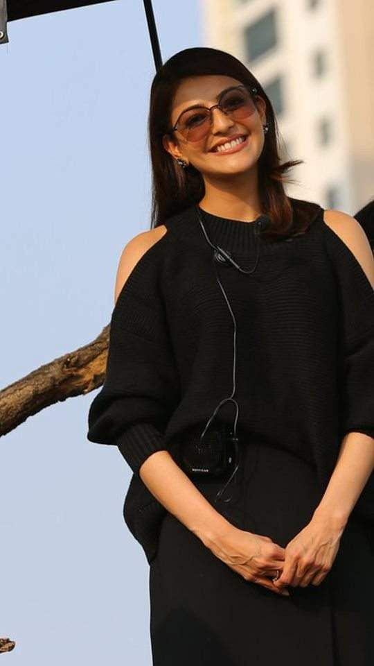 Kajal Aggarwal, from the sets of her next Tollywood releaseSita