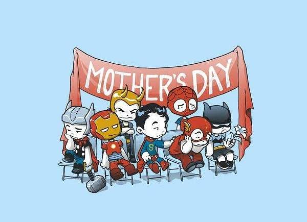 Happy Mothers Day DC Marvel Mothers