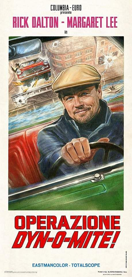 Posters of films inQuentin Tarantino'sOnce Upon A Time In Hollywood ft.Leonardo DiCaprio asRick Dalton