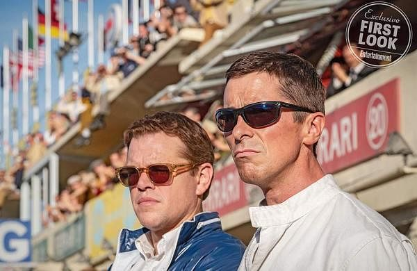 Christian Bale and Matt Damon hit the track for Ford vs Ferrari first look pictures