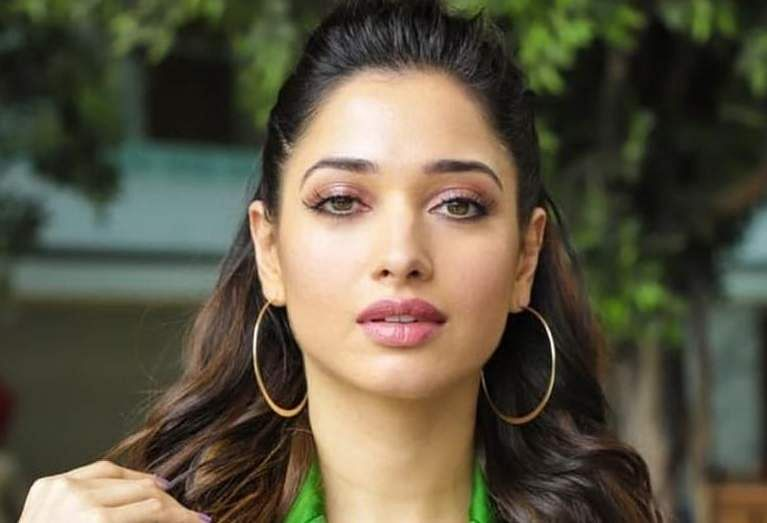 Tamannaah clicked at the promotions of Devi 2