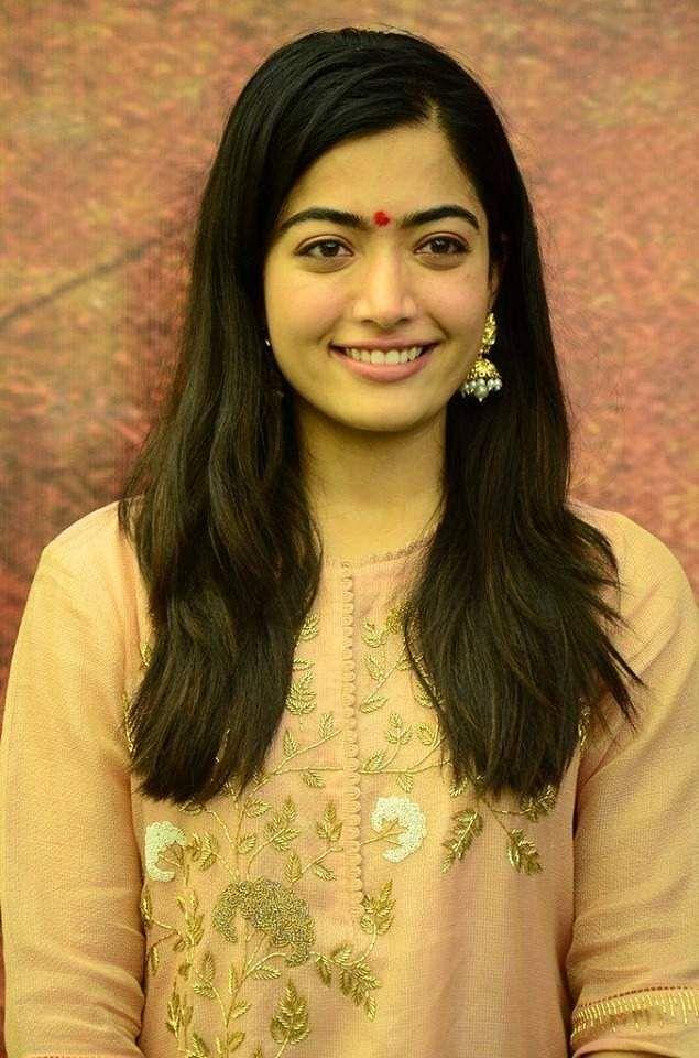 Rashmika Mandanna, clicked at the launch of her next Telugu film, Sarileru Neekevvaru, co-starring Mahesh Babu