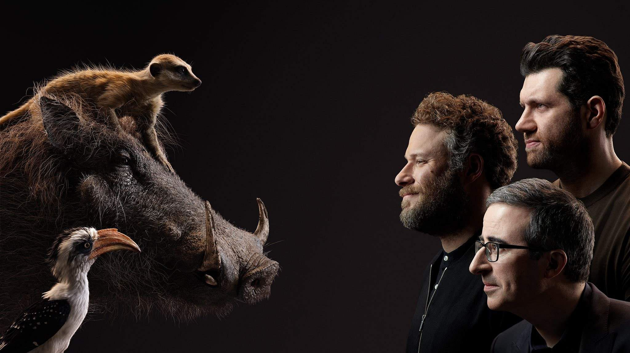 Lion King Billy Eichner, Seth Rogen, and John Oliver