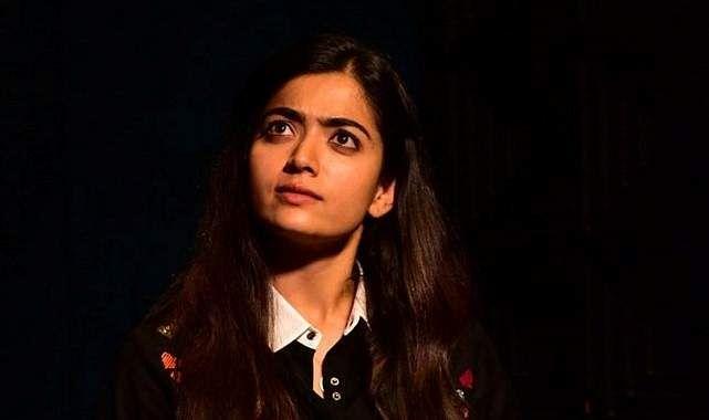 Rashmika clicked at the promotion of Dear Comrade