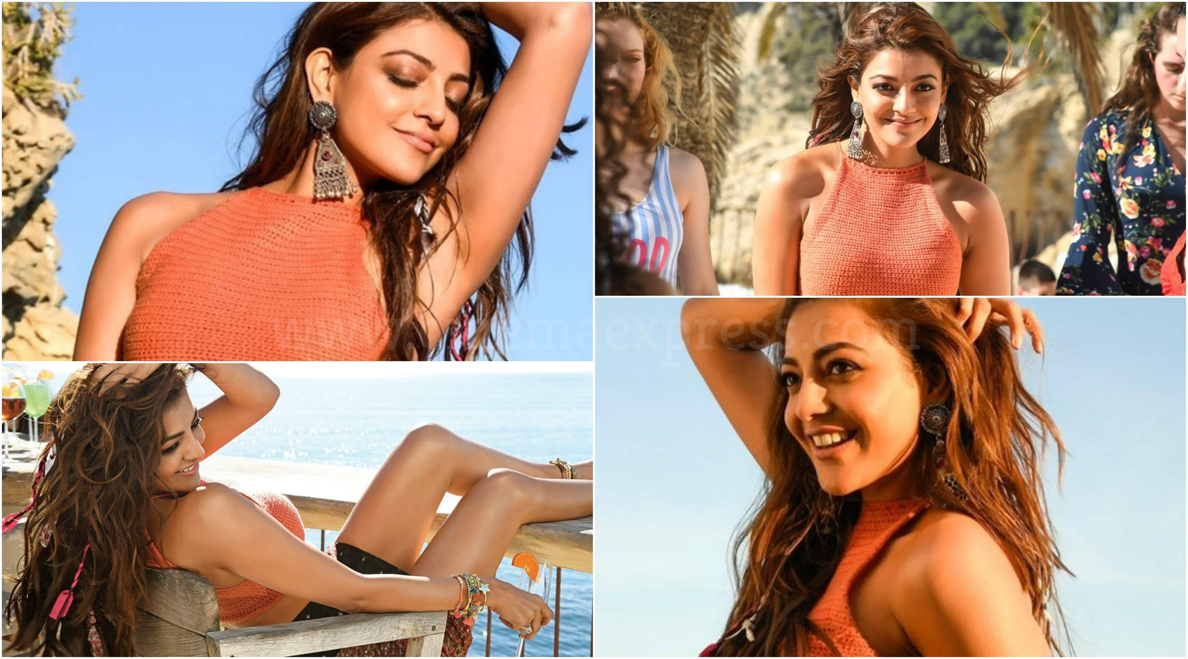Brand new stills of Kajal Aggarwal from her next, Ranarangam