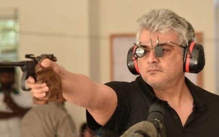 Thala Ajith Rifle shooting Pistol