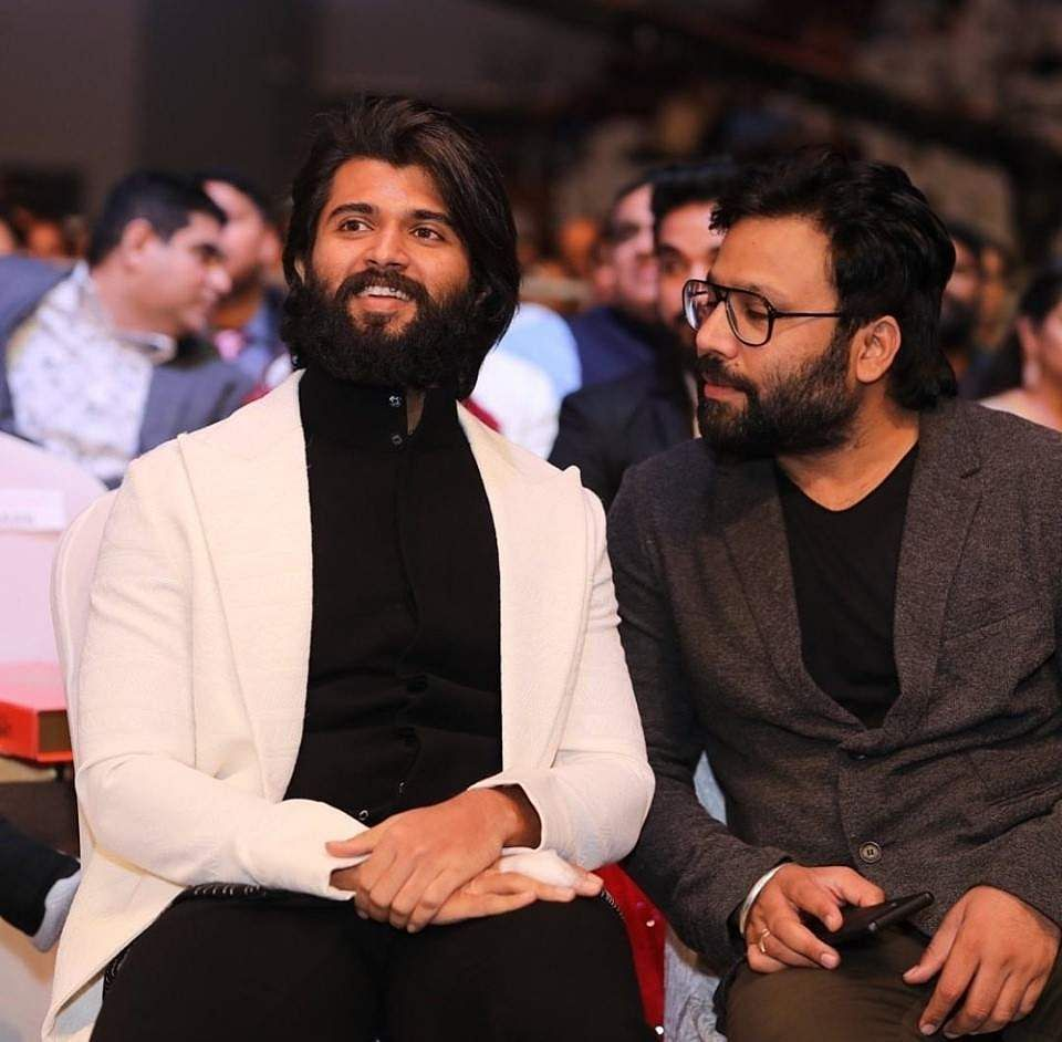 Vijay Deverakonda bags two awardsat the SIIMA Awards 2019; seen with Arjun Reddy director Sandeep Vanga