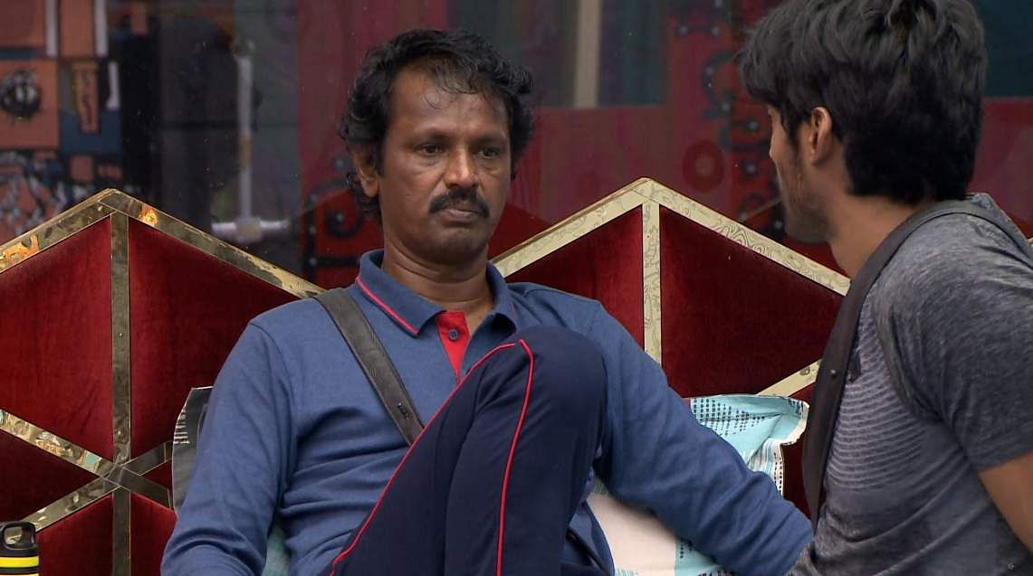 14Bigg Boss Tamil 3 - Kasturi breaks down. Cheran to talk to Kavin about relationship with Losliya in the next episode.