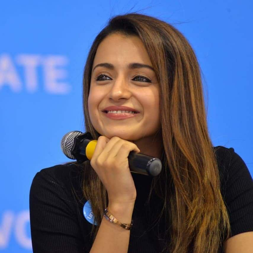 Trisha Krishnan clicked at the UNICEF event in Chennai