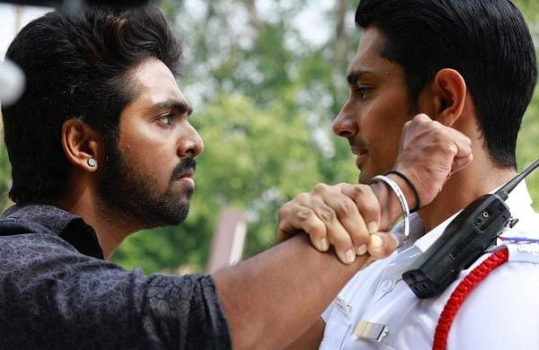 Pictures of Siddharth, GV Prakash and Lijomol Jose from their Sivappu Manjal Pachai