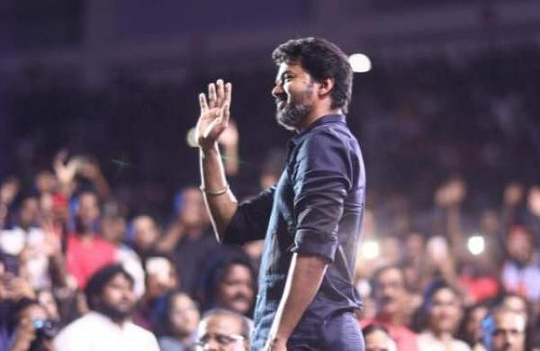 Brand new stills from the audio launch of the Vijay starrer Bigil