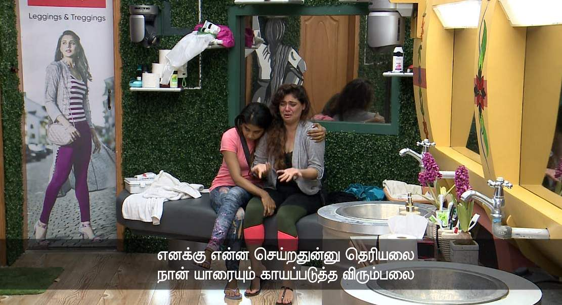 12Bigg Boss Tamil 3 - Sherin goes after Vanitha's derogatory comments about her