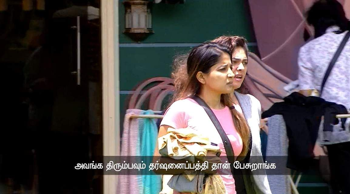 7Bigg Boss Tamil 3 - Sherin goes after Vanitha's derogatory comments about her