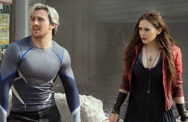 Quicksilver and Wanda in Avengers: The Age of Ultron
