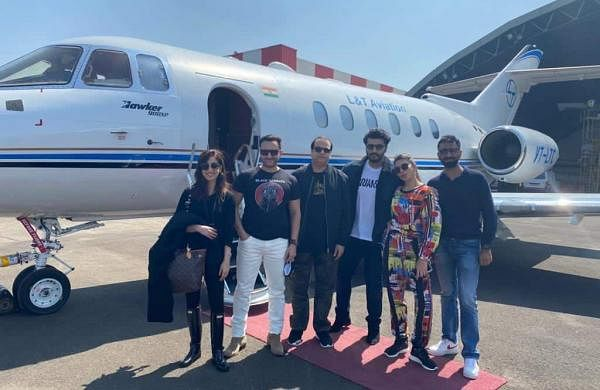 Saif Ali Khan, Arjun Kapoor and team leave for Dalhousie for Bhoot Police shoot