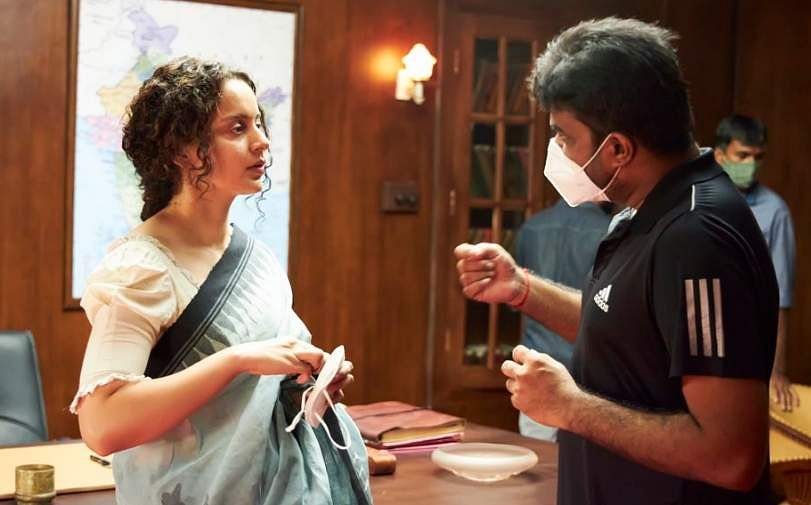 Kangana Ranaut with director Vijay