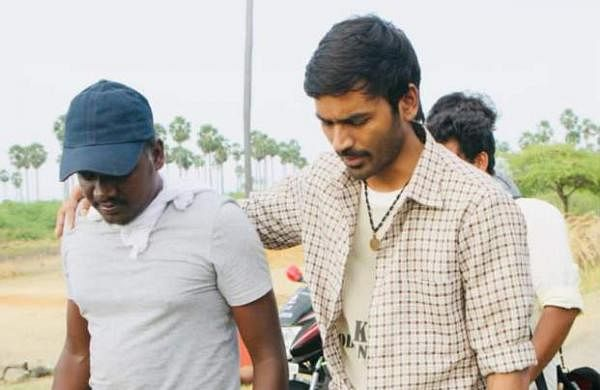 Mari Selvaraj and Dhanush on the sets of Karnan