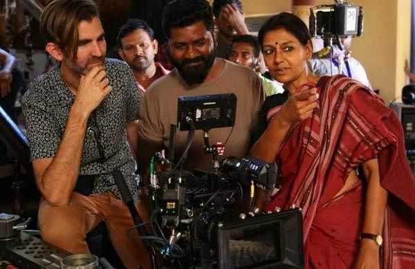 Nandita Das on sets of Virata Parvam