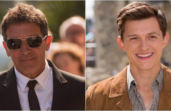 Antonio Banderas and Tom Holland