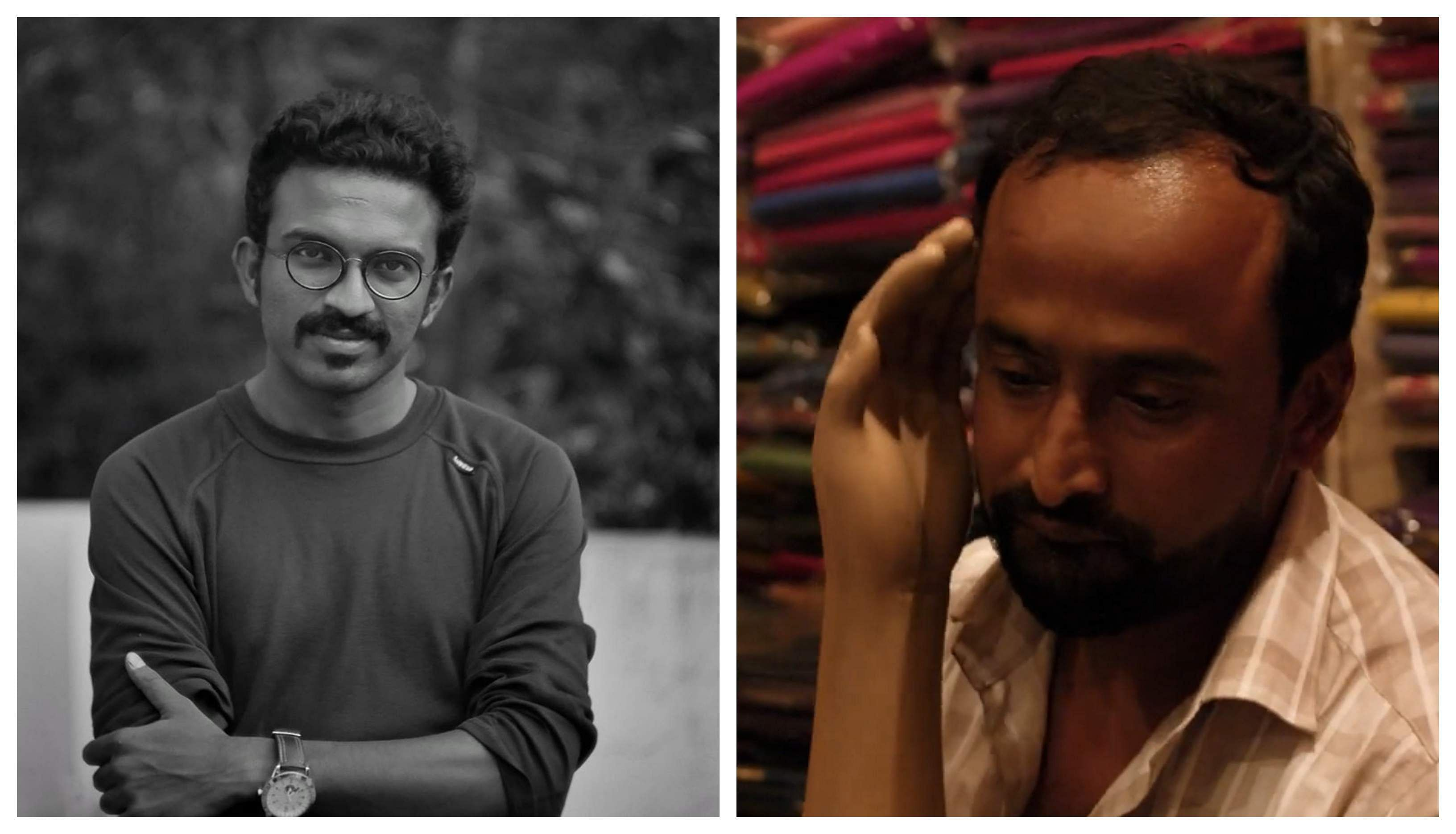Arun Karthick and A still from Nasir