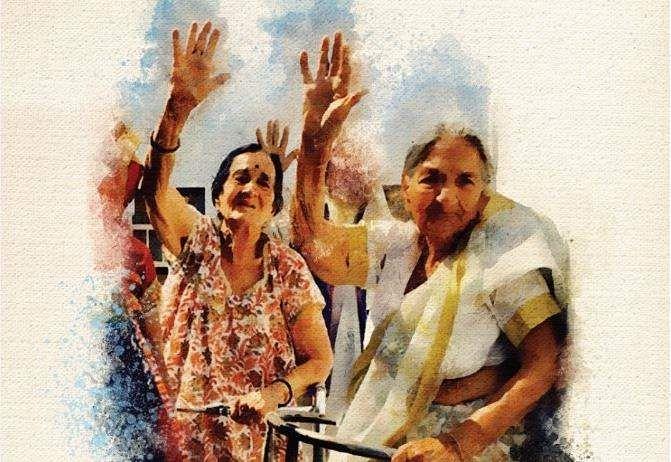 Poster of Aunty Sudha Aunty Radha