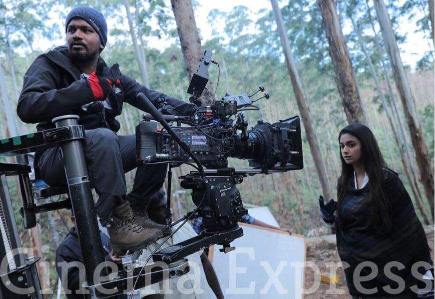 Penguin cinematographer Kharthik Palani with Keerthy Suresh