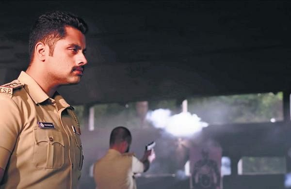 Abishek Ambareesh in a cop avatar for Bad Manners
