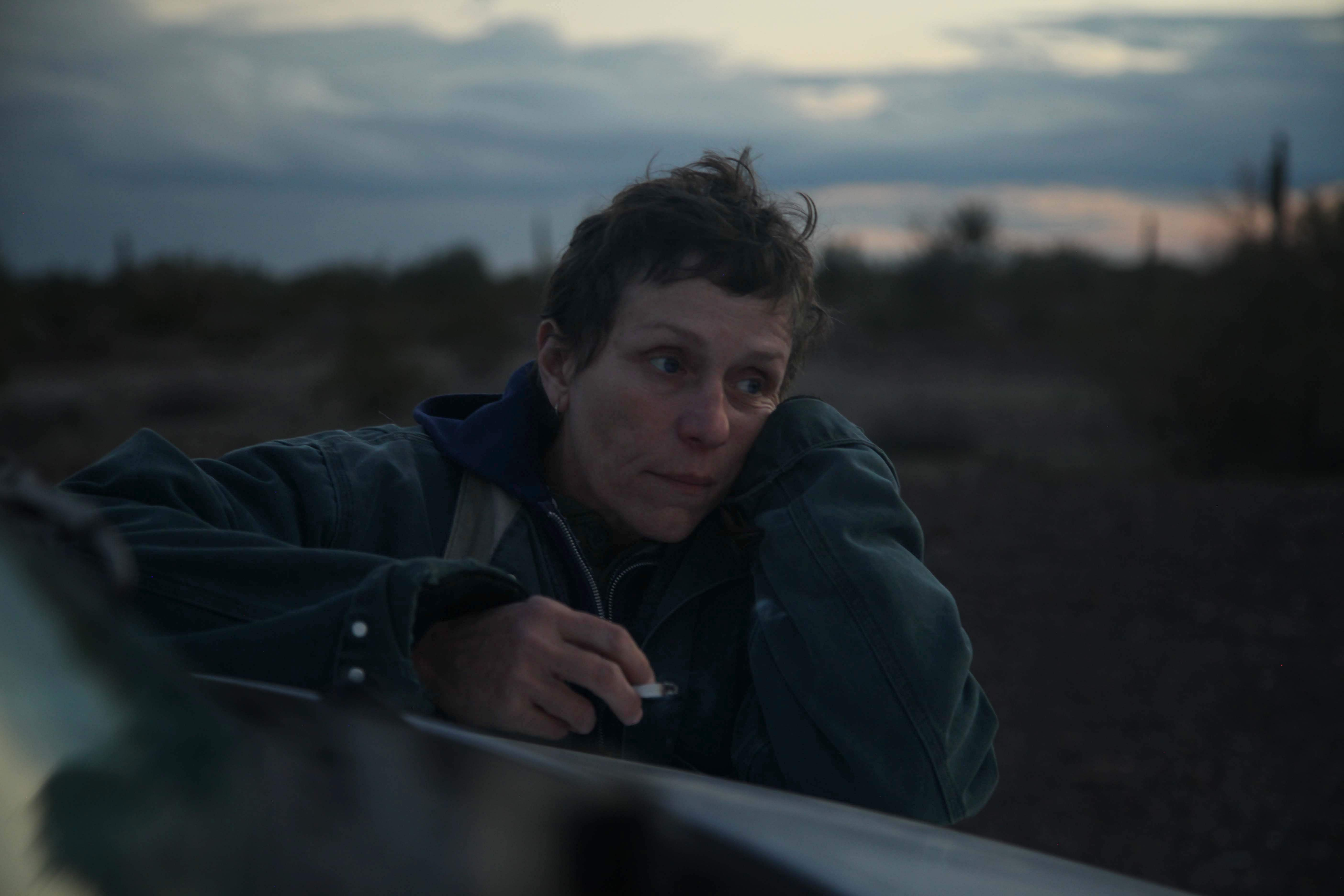 Frances McDormand for Nomadland : Human species is evolving, and movement is part of it