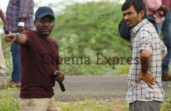 Mari Selvaraj and Dhanush from the sets of Karnan
