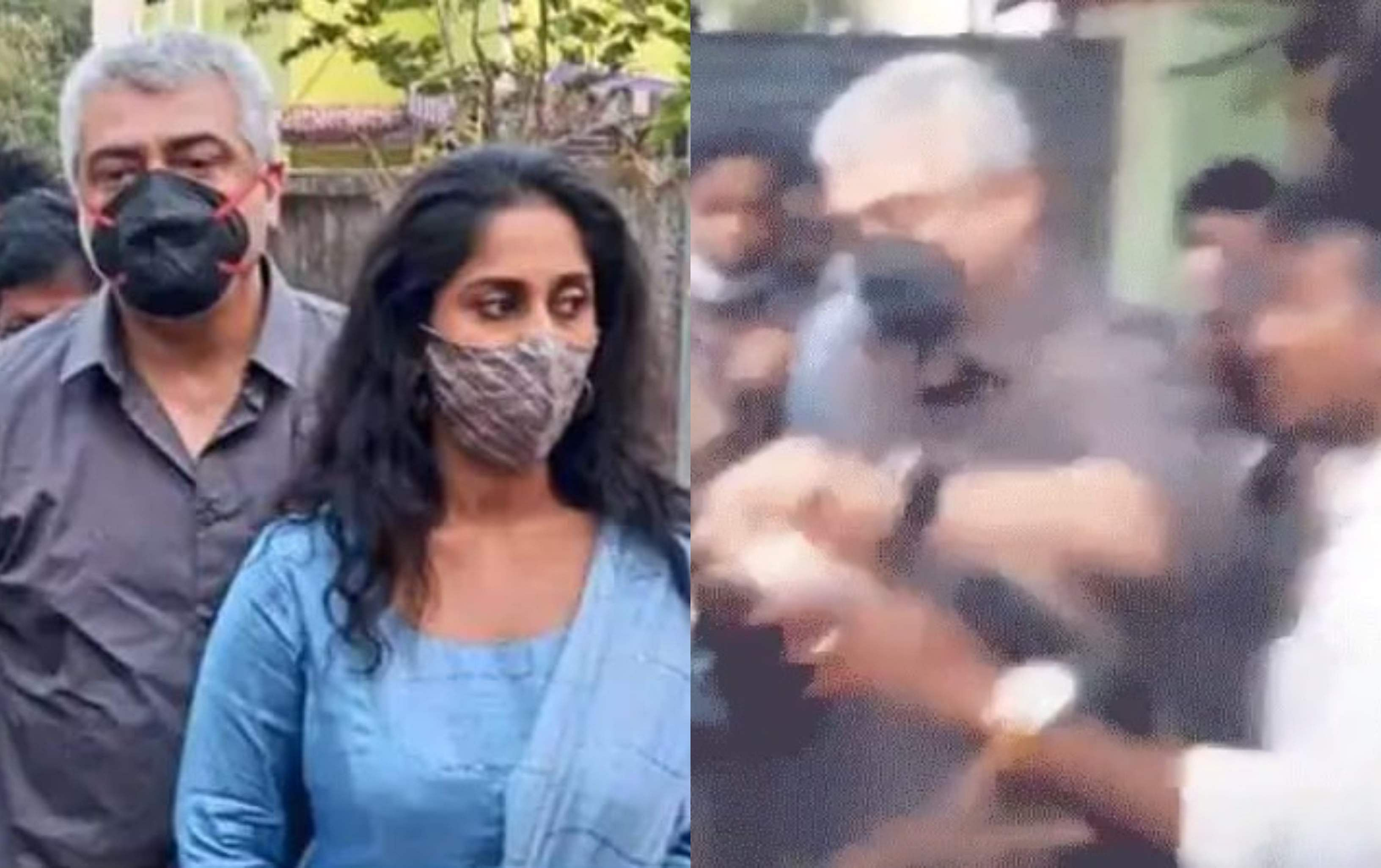 Tamil Nadu Elections 2021: Ajith snatches phone of intruder in polling booth