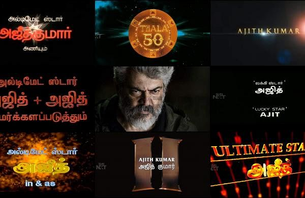 Happy Birthday Ajith Kumar: On the occasion of Thala 50, here's a look back at his title cards over the years
