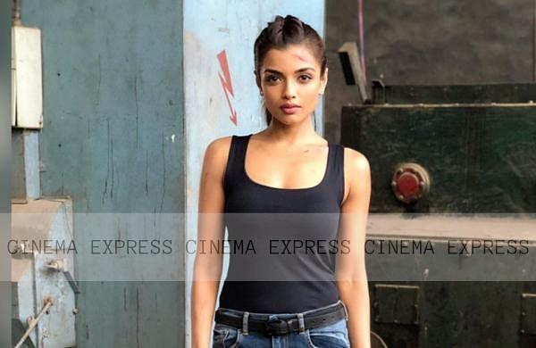 Ashna Zaveri on sets of Kanni Theevu
