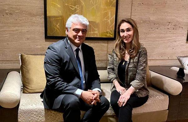 Ajith with Maral Yazarloo