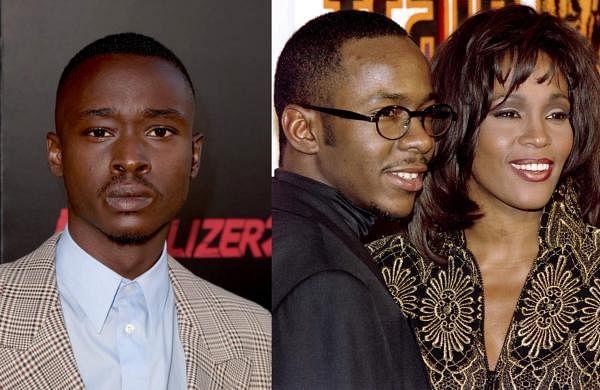(L: Ashton Sanders; R: Bobby Brown and Whitney Houston)