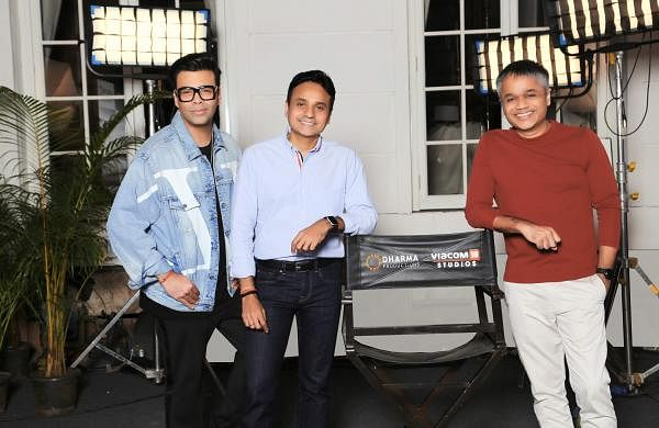 L to R: Karan Johar, Apoorva Mehta, Ajit Andhare
