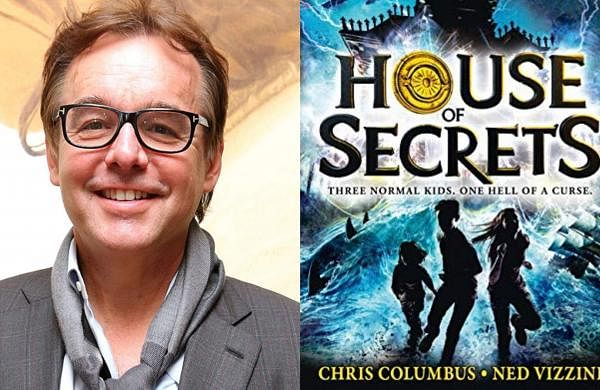 Chris Columbus and a cover of his House of Secrets book
