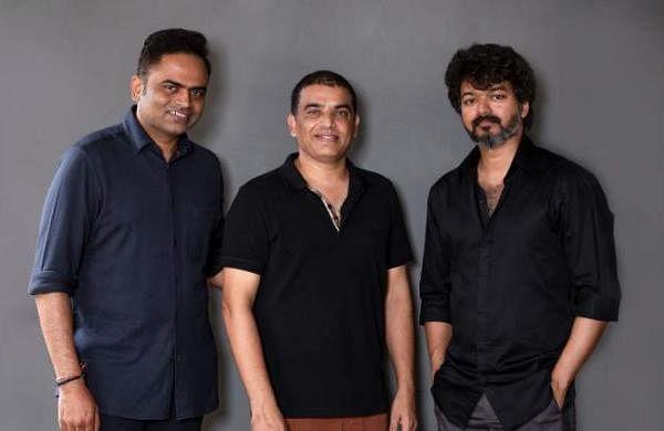 Vamshi Paidipally, Dil Raju, and Vijay